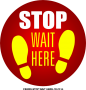 CS0005-STOP WAIT HERE - 12x12in