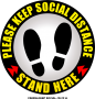 CS0006-KEEP SOCIAL - 12x12in