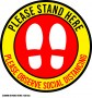 CS0008-STAND HERE-12x12in
