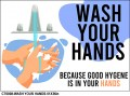 CT0008-WASH YOUR HANDS-24X18in